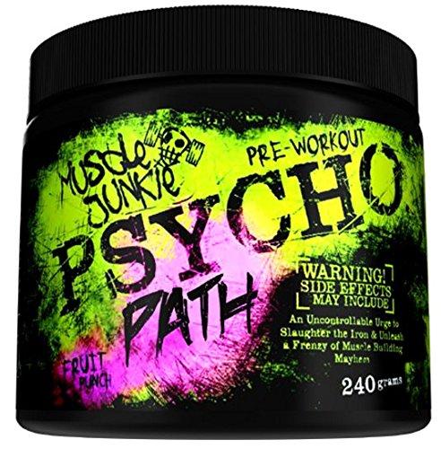 Muscle Junkie PsychoPath Der Pre-Workout Booster Für Energy Bodybuilding 240g Psycho Extrem...
