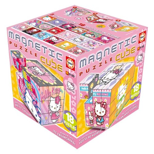 Imagen 1 de Educa Borrás 14383 - Magnetic Puzzle Cube 27 Hello Kitty