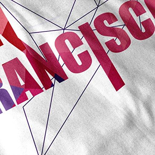 Cool Städtisch San Francisco Kalifornien Damen S-2XL Muskelshirt | Wellcoda Weiß