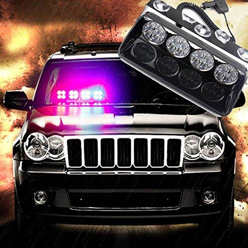 48W 16LED rot/blau Auto LKW-Dash Strobe Flash Notfall Police ACHTUNG Windschutzscheibe LED Strobe Light Auto Flash Signal Notfall Feuerwehr Polizei Beacon Warnung Light S16Viper Spots (Dash Emergency Lights)
