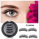 Magnetic False Eyelashes Three Magnets Reusable Fake Eye lashes Natural Eyes Lash