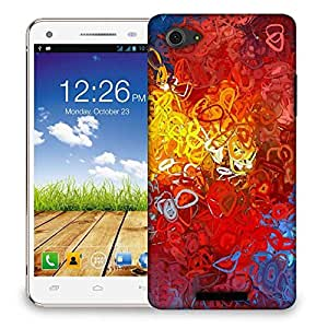 Snoogg Red abstract Designer Protective Back Case Cover For Micromax Canvas Hue 2 A316