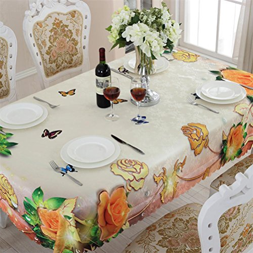 48 Zoll Breite Rechteckiger Tisch (LYD® Wasserdichte rechteckige Tischtücher Bunte Blumen Praktische Haushaltsgegenstände Öldicht Tisch Tuch Mehrere , 100*100cm)