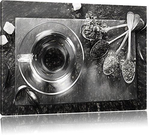 Hot erbe carbone effetto disegno, Formato: 120x80 su tela, XXL enormi immagini completamente Pagina con la barella, stampa d'arte sul murale con telaio, più economico di pittura o un dipinto a olio, non un manifesto o un banner, - Arancione Menta Dell'erba