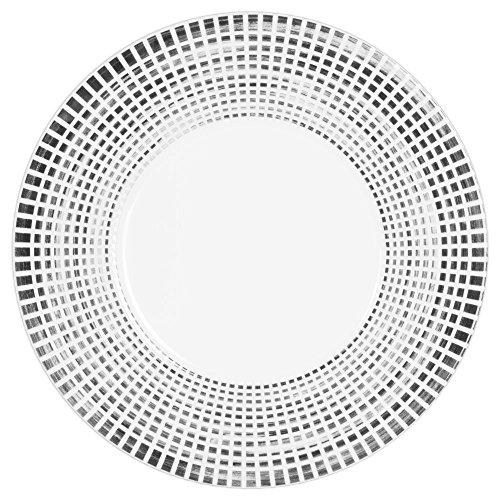 Assiette plate Noir Astral 27 cm (Lot de 6)
