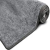 casa pura Glitzer-Teppich Memphis | Viele Größen | mit eingewebten Glitzerfäden | Flurteppich, Wohnzimmerteppich, Küchenteppich, Schlafzimmerteppich (Grau - 200x200 cm)