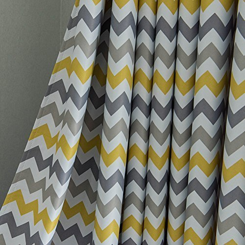 Top finel tende oscuranti per sole panno occhielli con onda camera da letto decorativi per intini finestra balcone casa 140x260cm 2 pezzi-giallo