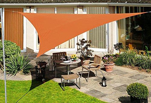 Voile d'Ombrage Terracotta Triangle 3m - Déperlant - 140g/m2 - Kookaburra