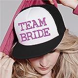 Team Braut Baseball Hat Kristall Braut Hochzeit Party Trucker Cap schwarz / rosa