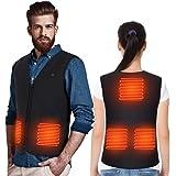 Doact uppvärmd väst jacka för män och kvinnor, elektrisk kroppsvärmare gilet, värmekläder USB-laddning för terapi, under kall