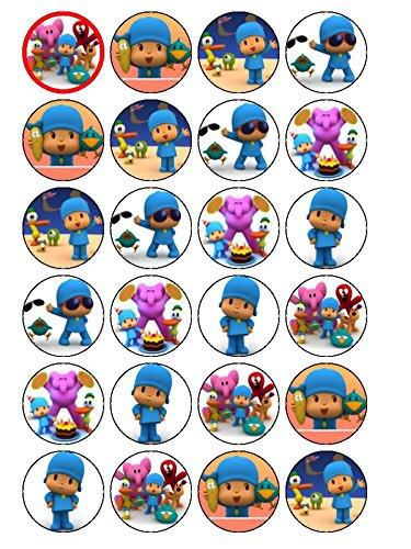 24 x Pocoyo (#2 décorations pour cupcakes