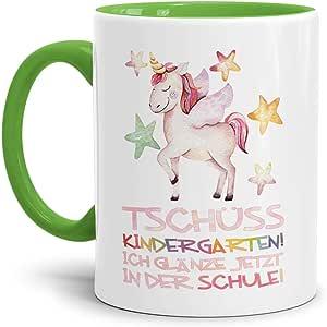 Geschenkset zur Einschulung Schulkind Junge Tasse und Kissen//ABC-Sch/ütze//Schule Ihr Name 1.Klasse//Personalisiert//Individuell//Geschenk-Idee//Hellblau