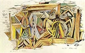 Reproduction 60 x 70 cm - André Masson - 1940 le chantier de Dédale -