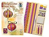 Ursus 23480099 - Designstreifen Paper Balls Magic Christmas