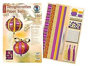 Ursus 23480099 - Diseño Rayas de Papel Bolas Magia de la Navidad