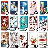 5 Päckchen bedruckte Taschentücher Weihnachten - verschiedene Motive zur Auswahl (01 - Ear Rings Elch)