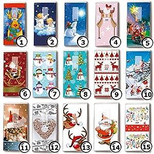 5 Päckchen bedruckte Taschentücher Weihnachten – verschiedene Motive zur Auswahl