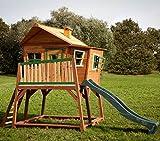 Axi Kinder Spielhaus Max mit Terrasse und Anbau - Stelzenhaus hoch