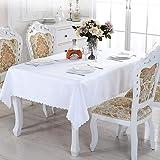 Nappe rectangulaire lavable en polyester idéal pour buffet, fête, vacances, dîner, mariage, 150 x 200 cm