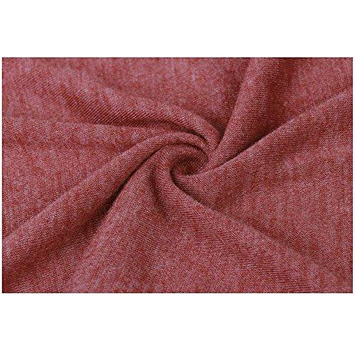 Aumir Waterfall cardigan donna Maniche Lunghe Three Colori Misto aperto Davanti Giacca Tops Rosso