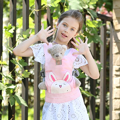 GAGAKU Doll Carrier Front and Back Soft Cotton for Kids Boys Girls Over 18 Months Updated Version - Pink Rabbit  Brandworl