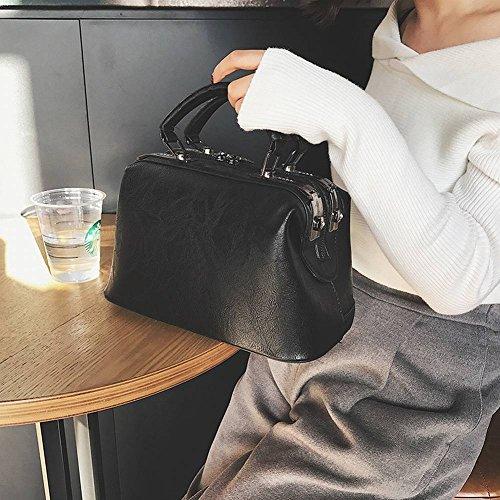 YTTY Handtaschen Mode Taschen Handtaschen Boston Handtaschen Schultertasche Handtaschen, schwarz -
