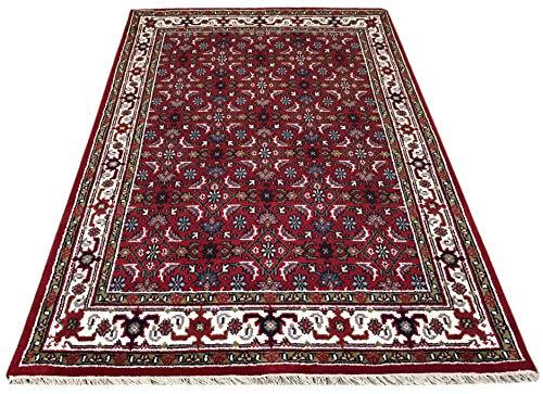 WAWA TEPPICHE Orientteppich Herati 200X300 cm Handgeknüpft ROT Cream Teppich~ 100% Wolle (200X300) - 200 Wolle Orientteppiche