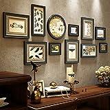 Unbekannt Global- Kiefer Holzrahmen, Zimmer Bilderrahmen Hintergrund Wandbehang Wand Kombination/Include Bilder, Set von 11 Frames