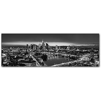 Kunst Bild Frankfurt Nacht Skyline Schwarzweiß | Die