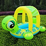 Generic Tortoise Inflatable Swimming Pools Accessories Baby Plastic Kids Children Toddler Baby Seat Float for 0-3years only swimming ring