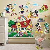 ENFANTS enfants Stickers muraux Décoration murale Disney Mickey Mouse Taille 90cm...