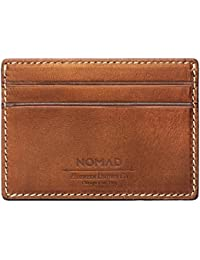 Nomad Slim Leather Wallet - With 4 Card Slots & 1 Slim Cash Pocket - Classic Bold Design - Horween Brown