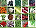 Viridis Hortus - 20 Packs of Vegetable Seeds - Tomato, Celery, Leek, Pea, Mustard Red Zest, Carrot, Chicory, Turnip etc