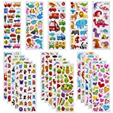 3D Stickers for Kids Toddlers Vivid Puffy Kids Stickers 24 Diffrent Sheets over 550, Coloured 3D Stickers for Boys Girls Teachers as Reward, , Craft Scrapbooking