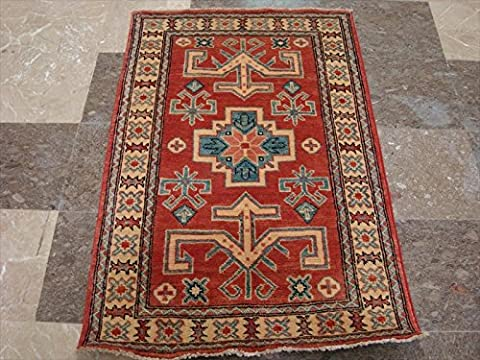 Super Kazak Geometric Veg Dyed Mahal Rectangle Hand Knotted Rug