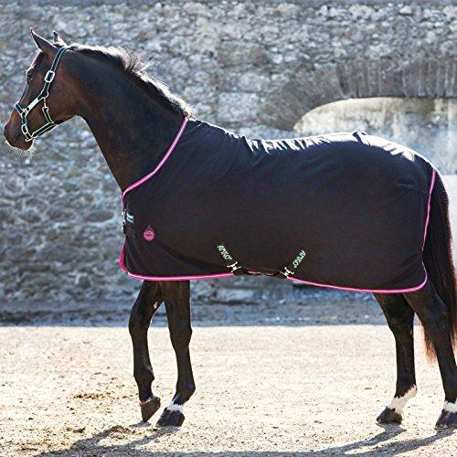 Horseware Amigo Stable Sheet 0g - Black/Purple & Mint, Groesse:160