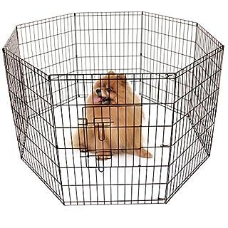 AllRight Pet Play Pen Large Dog Puppy Animal Rabbit Run Cage Metal Fence 8 Panels