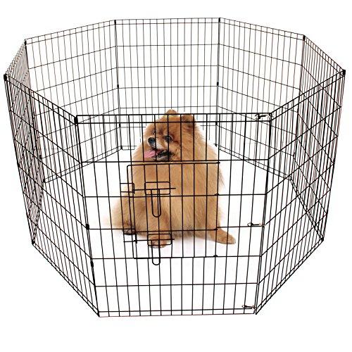 AllRight-Pet-Play-Pen-Large-Dog-Puppy-Animal-Rabbit-Run-Cage-Metal-Fence-8-Panels