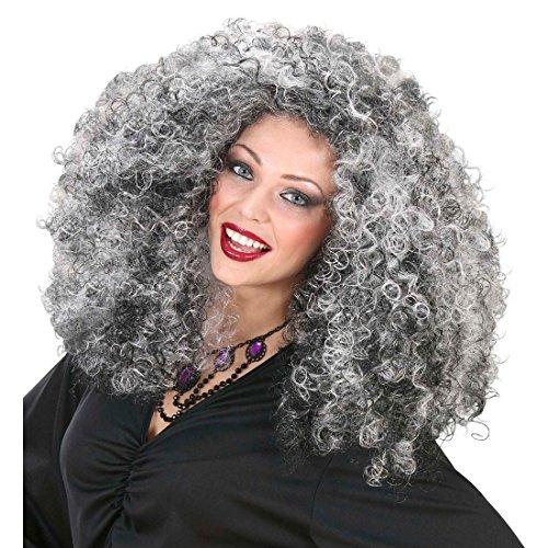 Imagen de kraus pelo bruja peluca bruja peluca negro halloween mujer peluca vampiro peluca de pelo peluca disfraz de bruja de vampiresa accesorios