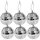 TipTop Decoration Mirror Disco Ball (Silver) (6 Pieces) (6 cm)