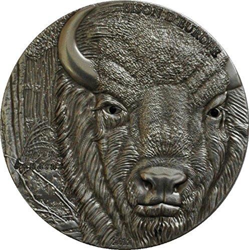 BISON EUROPE Silver Coin Swarovski 2 Oz 1500 Francs Togo 2012