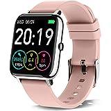 Rinsmola Smartwatch, Reloj Inteligente Mujer de Pantalla Táctil, Pulsera Actividad Inteligente con Pulsómetro, Monitor de Sue