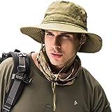 Dsaren Sombrero de Ancho Brim Hombres Sombrero de Pescador Camuflaje del Ejército para Exteriores Pesca Camping Ciclismo Caza