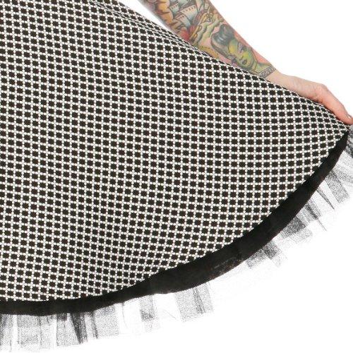 Voodoo Vixen Kleid LUCKY CLOVER DRA2128 black-white XL -