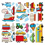 I-love-Wandtattoo WAS-10301 Kinderzimmer Wandsticker Set Bunte Autos für Das Babyzimmer zum Kleben Wandtattoo Wandaufkl