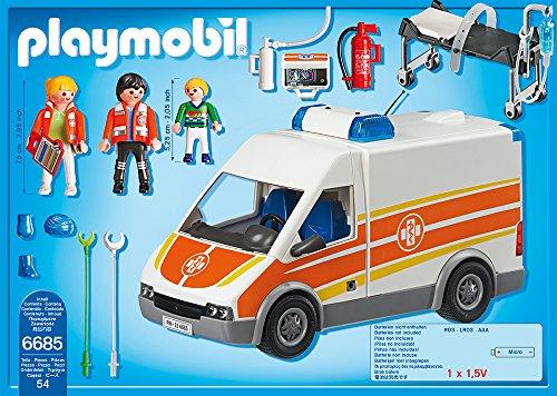 PLAYMOBIL 6685 – Krankenwagen mit Licht und Sound - 3