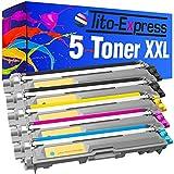 PlatinumSerie® Set 5 Toner-Kartuschen XXL kompatibel für Brother TN-242 TN-246 HL-3142CW HL-3152CDW HL-3172CDW MFC-9142CDN MFC-9332CDW MFC-9342CDW DCP-9017CDW DCP-9022CDW