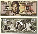 Patrick Swayze $Million Dollar$ Novelty Bill Collectible by Patrick Swayze Collectibles