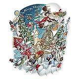 Papier d 'Art Weihnachten Karten–Frohe Weihnachten 3D Pop-Up-Karte