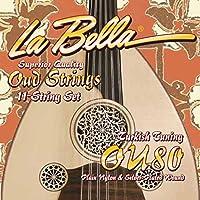 La Bella Oud Strings Aoud 12 String Set Nylon String Set Arabic Tuning - OU80A